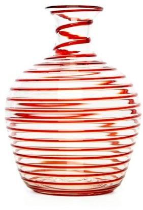 Yali Glass - A Filo Large Glass Carafe - Red