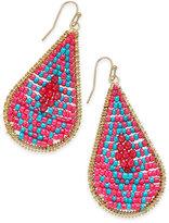 Thalia Sodi Gold-Tone Multi-Bead Drop Earrings, Created for Macy's