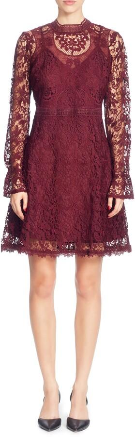 Catherine Malandrino Miia Lace Fit & Flare Dress