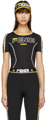 Fendi Black Mania Technical T-Shirt