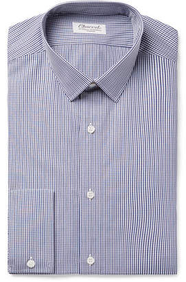 Charvet Blue Gingham Cotton-Poplin Shirt