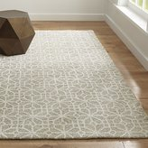 Crate & Barrel Rhea Dove Wool-Blend Rug