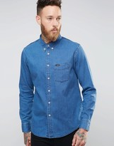 Lee Buttondown Denim Shirt Micro Blue