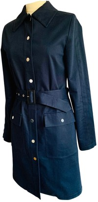 McQ Blue Cotton Coat for Women