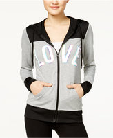 Material Girl Active Juniors' Love Graphic Hoodie, Only at Macy's