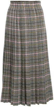 Ermanno Scervino Pleated Prince Of Wales Midi Skirt