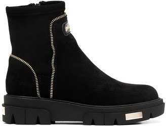 DKNY Zip Trim Ankle Boots