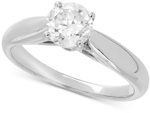 Grown With Love Lab Grown Diamond Solitaire Engagement Ring (1 ct. t.w.) in 14k White Gold