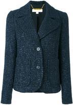MICHAEL Michael Kors tweed jacket - women - Cotton/Acrylic/Polyester/Spandex/Elastane - 6