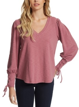 Jessica Simpson Mercer V-Neck Lace-Up Top