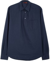 Barena Navy Cotton Twill Shirt
