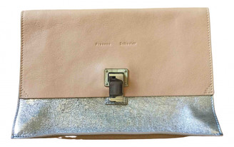Proenza Schouler Lunch Silver Leather Clutch bags