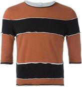 Telfar raw edge striped T-shirt - men - Cotton - M