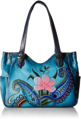 Anuschka Anna by Womens Leather Shoulder Bag Hand-Painted Original Artwork
