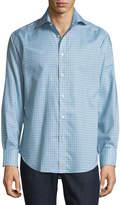 Thomas Dean Plaid Cotton Sport Shirt