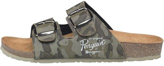 Original Penguin Mens Port Sandals Green Camo