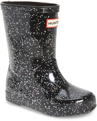 Hunter First Classic Giant Glitter Waterproof Rain Boot