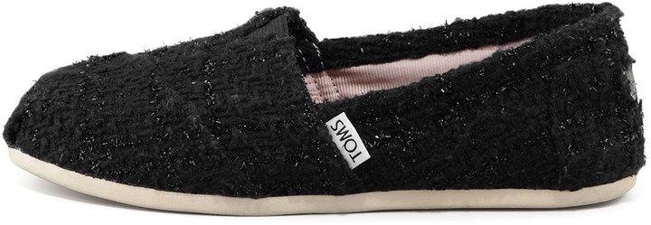 Toms Boucle Slip-On, Black