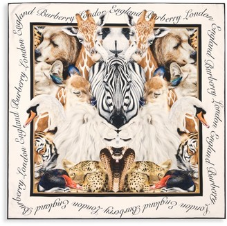 Burberry Animal Portraits Silk Square Scarf