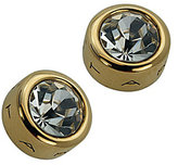 T Tahari Crystal Bezel Stud Earrings