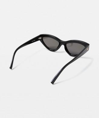 Le Specs Synthcat Sunglasses Black/Violet Mirror