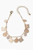 Dynamite Delicate Filigree Pendant Bracelet