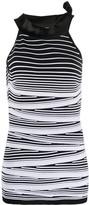 D-Exterior D.Exterior striped sleeveless knitted top