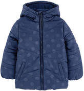 Esprit Spotted padded coat with a fleece lining