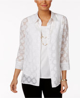 Alfred Dunner Seas the Day Layered-Look Top