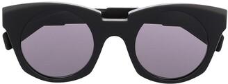 Kuboraum Angular Round-Frame Sunglasses