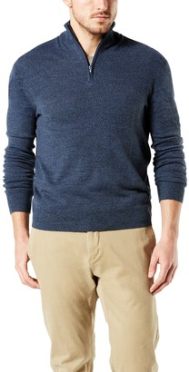 Dockers Men's Classic-Fit Marled Quarter-Zip Sweater