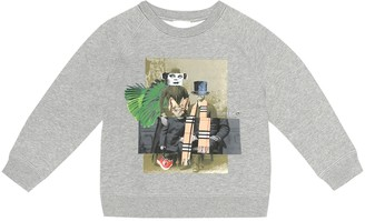 Burberry Family Stack cotton-blend sweatshirt