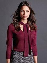 M&Co Tie neck shimmer jumper