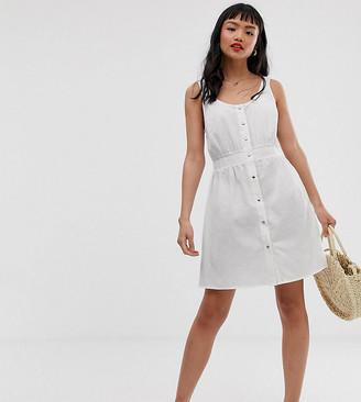Asos DESIGN Petite casual popper front mini dress