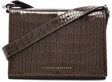 Victoria Beckham Printed Croc Mini Shoulder Bag