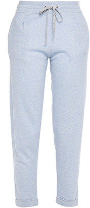 Duffy Cropped Cashmere And Linen-blend Track Pants
