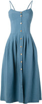 Forte Forte denim pleated dress - women - Cotton/Linen/Flax - XS