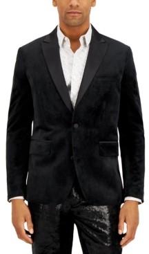 INC International Concepts Inc Men's Logan Slim-Fit Velvet Blazer, Created for Macy's