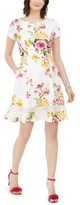 Jessica Howard Petite Scuba Floral Fit & Flare Dress