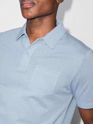 Sunspel Blue Riviera Polo Shirt