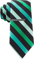 Jf J.Ferrar JF Patterson Striped Tie and Tie Bar Set - Slim