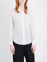 Y's Ys Polka-dot cotton-blend shirt