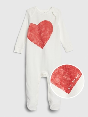 Gap Baby Heart Footed One-Piece