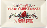 Lenox Winter Greetings May All Your Christmases Be White Platter