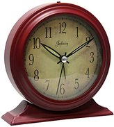"""Infinity Instruments Boutique Red- 5-5/8"""" x W:5-1/2"""" Metal Alarm Clock"""