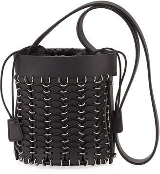 Paco Rabanne 1401 Chain-Link Mini Bucket Bag, Black