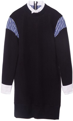 Sacai Sponge Sweat Dress in Navy