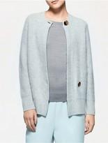 Calvin Klein Platinum Cashmere Back Button Cardigan