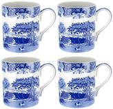 Spode Blue Italian Tall Mugs (Set of 4)