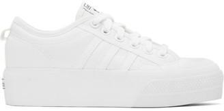 adidas White Nizza Platform Sneakers